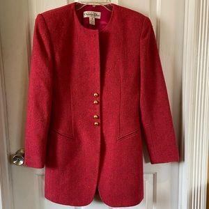 Christian Dior Red Wool Blazer Size 4
